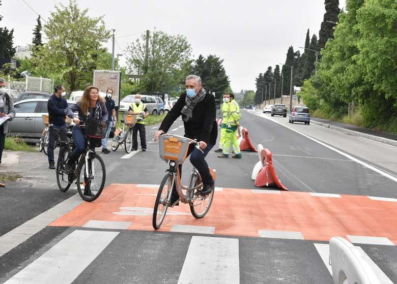 nouvelle piste cyclable à montpellier